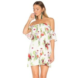 REVOLVE Norval Dress in White Floral